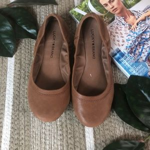 Lucky Brand Brown Ballet Leather flats Size 6.5